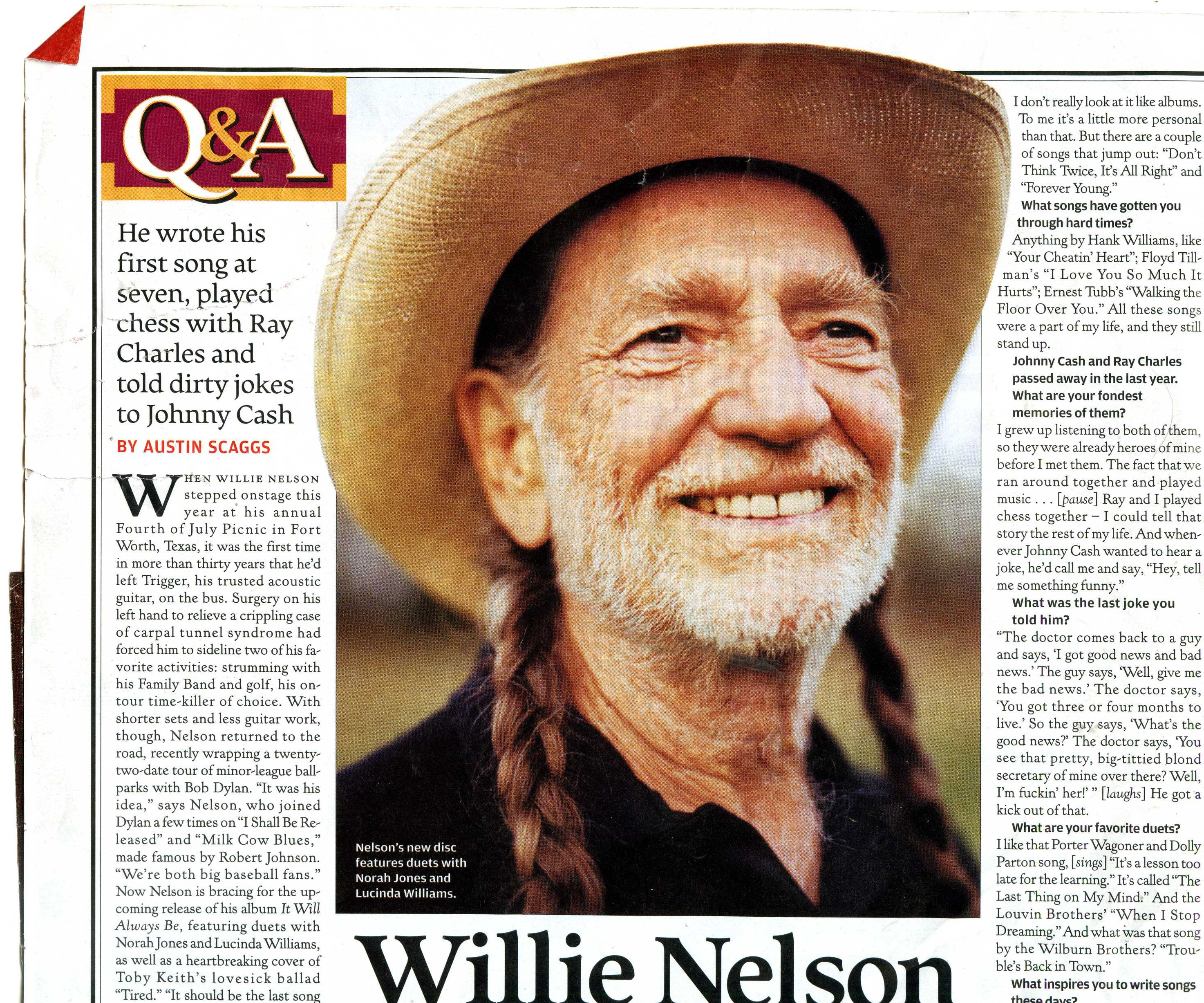 Willie Nelson Quot Hank Williams Gets Me Through Hard Times