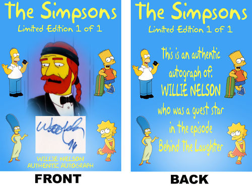 willie nelson on the simpsons behind the laughter www