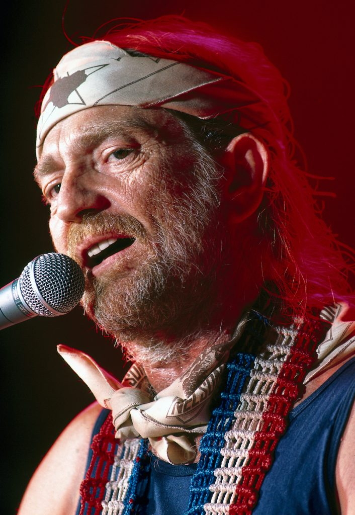 Singer Willie Nelson performs during a concert at the Golden Nugget Hotel. Las Vegas, Nevada 8/1978 (Image # 1150 )