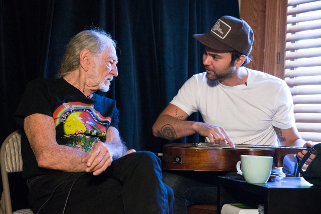 Austin, TX - Willie Nelson tapes a piece with Shakey Graves in the Pedernales Recording Studio for the US premiere of the Irish music series Other Voices on October 3, 2016. Suzanne Cordeiro for American-Statesman