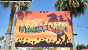 INDIO, CA - APRIL 29: Signage is seen during 2016 Stagecoach California's Country Music Festival at Empire Polo Club on April 29, 2016 in Indio, California. (Photo by Matt Cowan/Getty Images for Stagecoach)