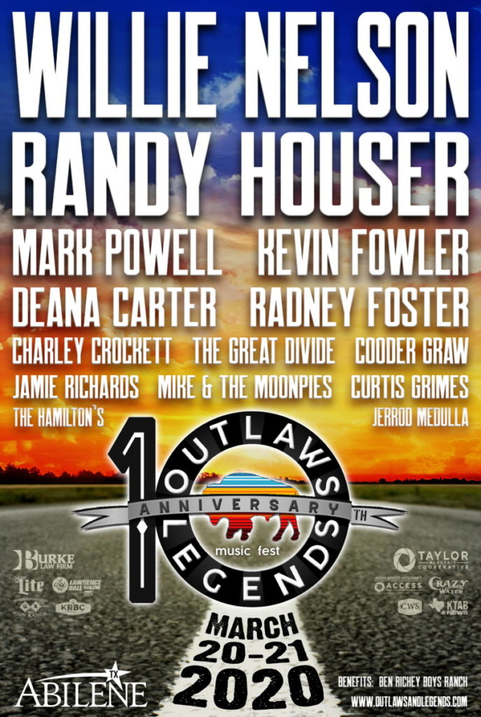 Outlaw Music Festival 2020 Lineup.Willie Nelson Family At 2020 Outlaws Legends Music Fest